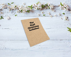 Flat Kraft Christening Invitations