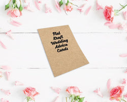Flat Kraft Wedding Advice Cards