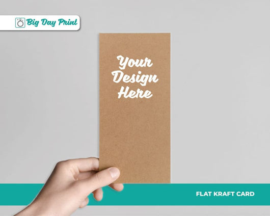 Flat Kraft Wedding Menu Cards - DL / No Lamination