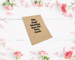 Flat Kraft Wedding Save the Date Cards