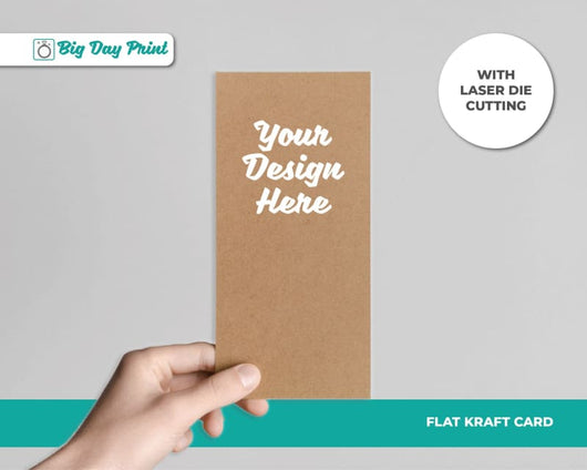 Flat Laser Die Cut Kraft Wedding Mad Libs - DL / No Lamination