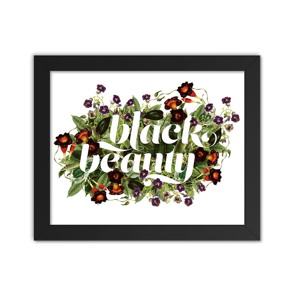 Black Beauty Floral - Art Print