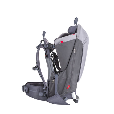 Phil&teds Escape Backpack Baby Carrier in Charcoal Grey side view