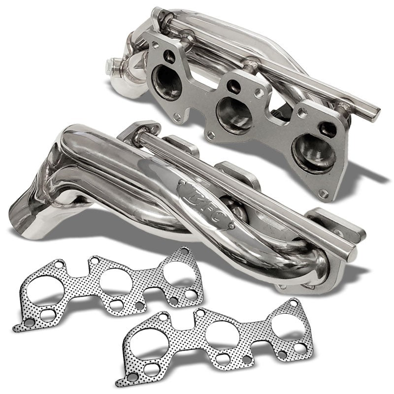 BFC Race SS Shorty Exhaust Header Manifold For 11-16 Tundra V6 W/Air Injection-Performance-BuildFastCar