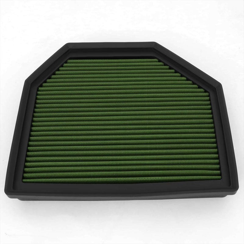 Green Cotton OE Style Dry Drop-In Panel Air Filter For 12-UP BMW M3/M4/M5/M6-Performance-BuildFastCar