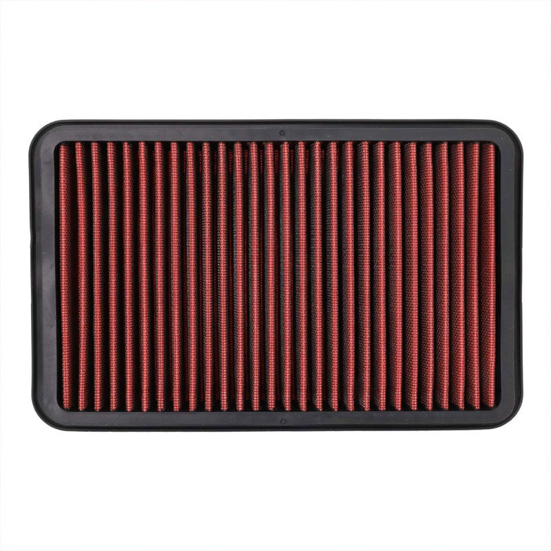 Red Cotton OE Style Drop-In Panel Air Filter For 92-02 Toyota Corolla 1.6L/1.8L-Filter-BuildFastCar-BFC-AIRFILPAN-183-RD