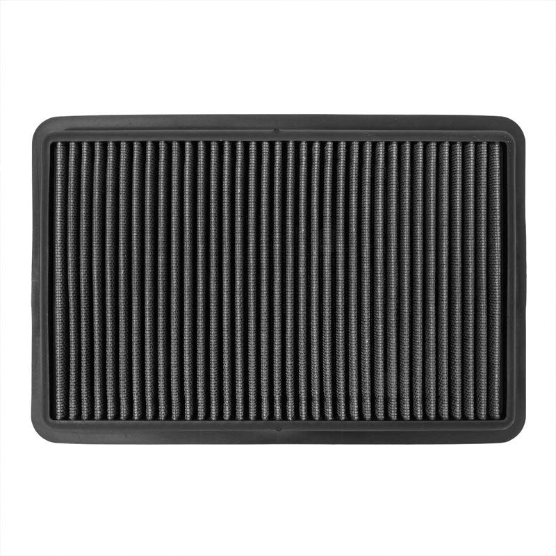 Black Cotton OE Style Drop-In Panel Air Filter For 12-18 Mazda 3 2.0L/2.3L/2.5L-Filter-BuildFastCar-BFC-AIRFILPAN-184-BK