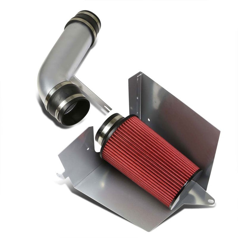Cold Air Intake Kit Silver Pipe+Heat Shield For Chevy/GMC 96-00 C/K-Series/Tahoe-Performance-BuildFastCar