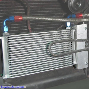 25 Row 10AN Silver Aluminum Oil Cooler for Turbo/Engine/Transmission/Differntral-Performance-BuildFastCar