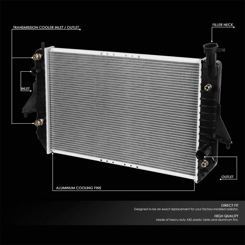 1-Row OE Style Direct Replacement Aluminum Radiator For 96-05 GMC Safari 4.3L-Cooling Systems-BuildFastCar-BFC-RADOE-1786