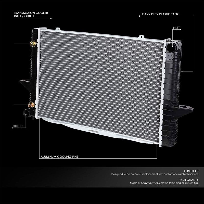 2-Row OE Style Direct Replacement Aluminum Radiator For 98-00 Volvo S70 2.4L-Cooling Systems-BuildFastCar-BFC-RADOE-1851