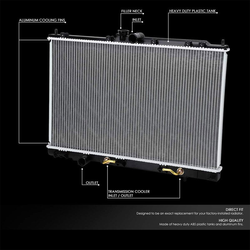 1-Row OE Style Direct Replacement Aluminum Radiator For 03-06 Outlander 2.4L-Cooling Systems-BuildFastCar-BFC-RADOE-2617