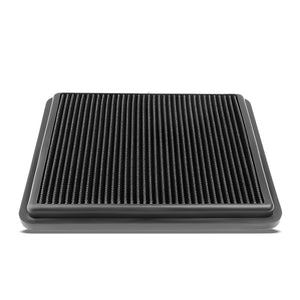 Black High Flow Washable/Reusable AirBox DropIn Panel Air Filter For 12-16 Azera-Performance-BuildFastCar