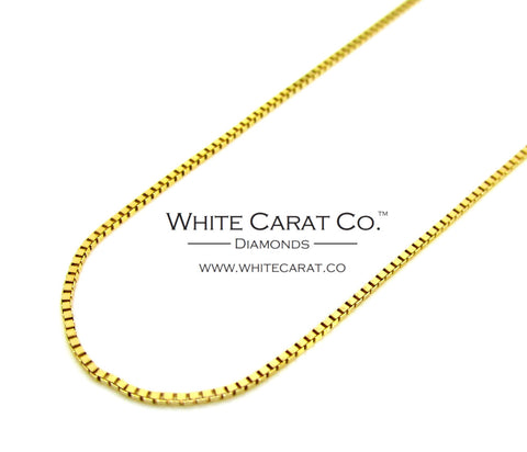 10K Gold Box Chain - 0.5 mm