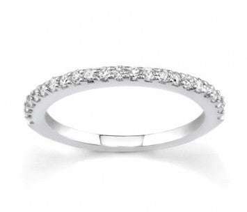 0.25 CT. Diamond Wedding Band Ring in White Gold