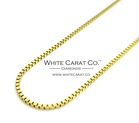 10K Gold Box Chain - 1.0 mm