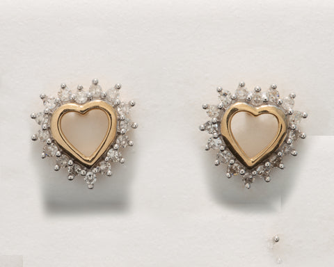 0.10 CT. Ladies' Diamond Studs in 10K Gold