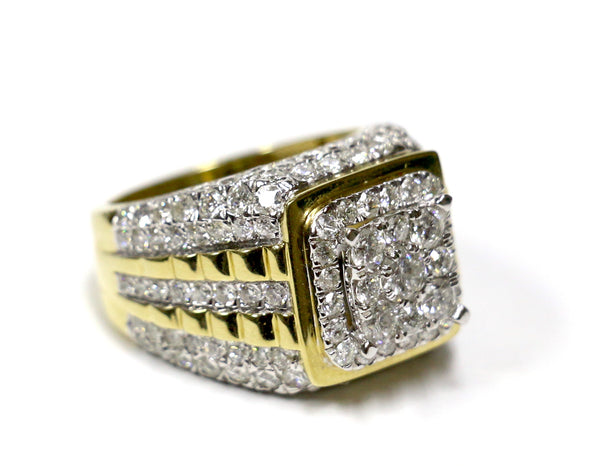 5.02 CT. Stacked Diamond Ring in 10K Yellow Gold
