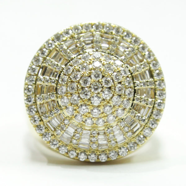 2.30 CT. Accented Circle Diamond Statement Ring in 14K Gold