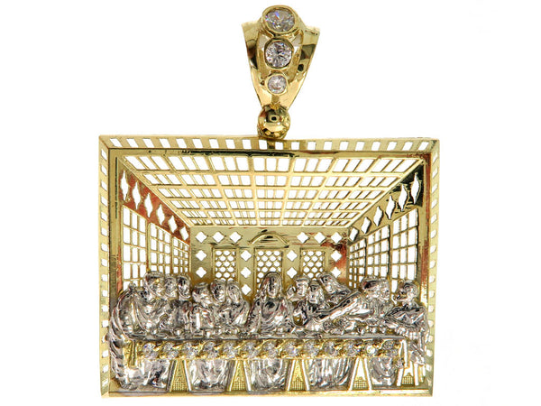 The Last Supper Pendant in 10K Yellow Gold