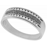 0.25 CT. Greek Design Diamond Ring in 14K White Gold