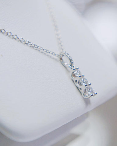 0.33 CT. Diamond Necklace in 10k White Gold