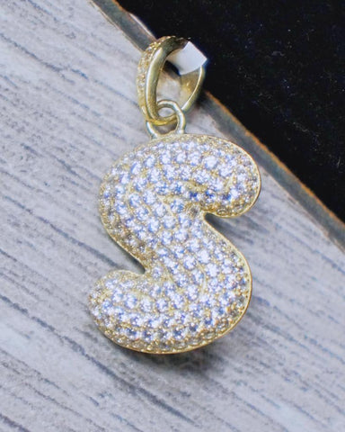 """Letter S"" Pendant in 10K Gold*"