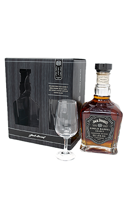 Jack Daniels Single Barrel Gift Set 700ml