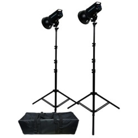Promaster PL400 Advanced LCD Control 2-Light Studio Kit by Promaster at bandccamera