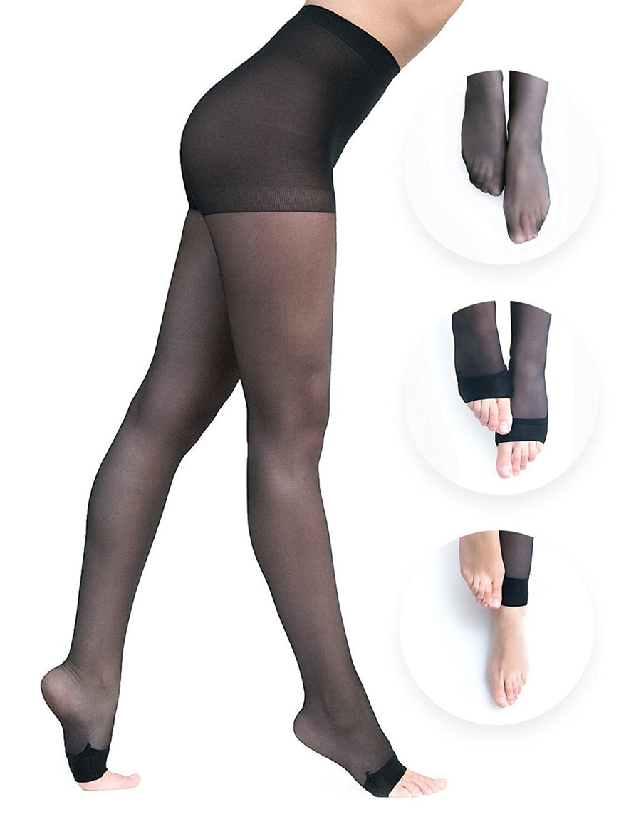 Convertibles Pantyhose - Double Black Pack - Convertibles Pantyhose