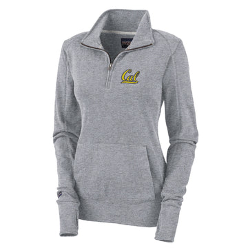 "UC Berkeley Cal 1/4"" Zip Women's Sweatshirt-Gray"