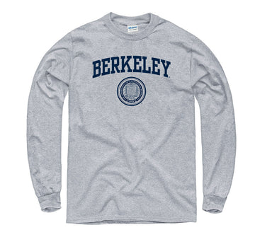 UC Berkeley Arch & Seal Long Sleeve T- Shirt- Gray