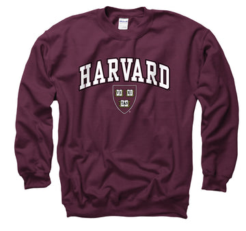 Harvard Crimson Men's Crew-Neck Sweatshirt-Maroon