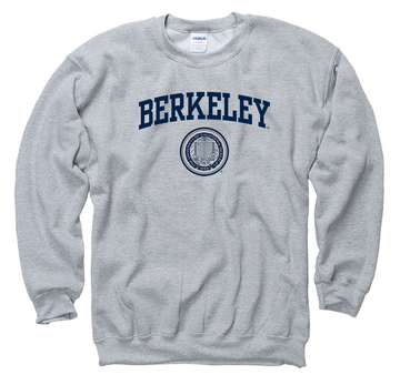 UC Berkeley Arch & Seal Crew-Neck Sweatshirt-Gray