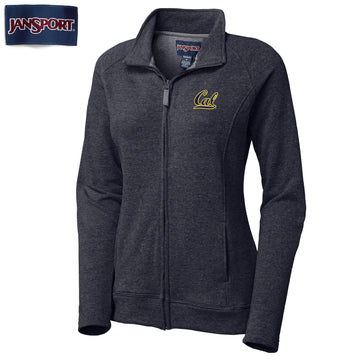 UC Berkeley Cal Applique Jansport Women's Zip-Up Sweatshirt - Navy