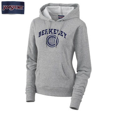 UC Berkeley Arch & Seal Jansport Women's Hoodie Sweatshirt-Gray