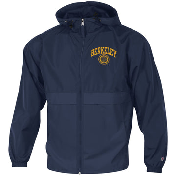 UC Berkeley Cal Champion Men's Zip-Up Windbreaker - Navy