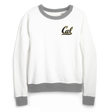 UC Berkeley Cal Women's League Crew-Neck Sweatshirt-White