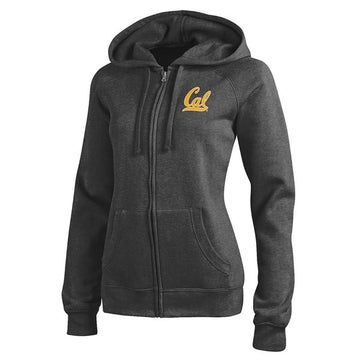 University Of California Berkeley Cal Champion Woman Zip Hoodie - Charcoal