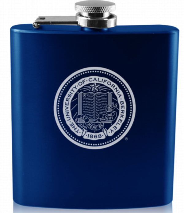University Of California Berkeley Cal Laser Engraved 6 Oz. Flask-Shop College Wear