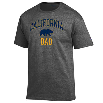 UC Berkeley Cal Dad Champion T-Shirt-Charcoal