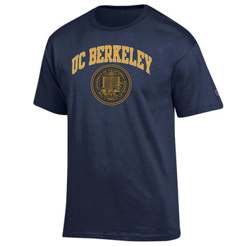 U.C. Berkeley Cal Arch & Seal Men's Champion T-Shirt-Navy