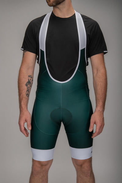 Men Bibs Green-White