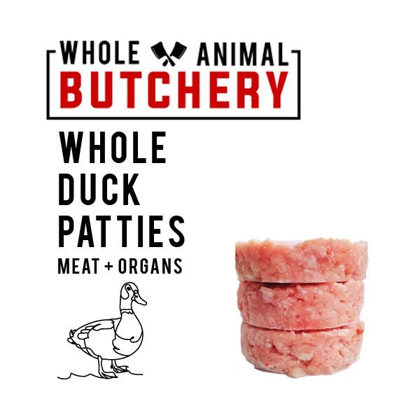 Whole Animal Butchery Frozen Duck Patties