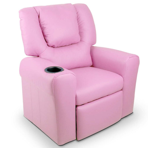 Lazy Boy Reclining Arm Chair - Pink