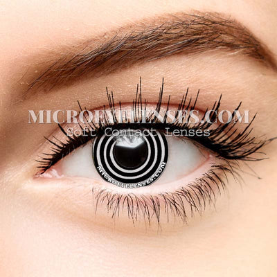 Micro® Eye Circle Lens Rinnegan Black-white Cosplay Colored Contacts Lens M0632