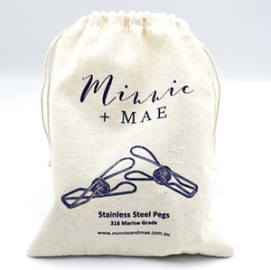 24 pack - Marine Grade Stainless Steel Pegs - Minnie & Mae