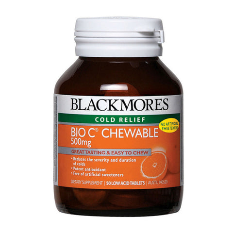 Blackmores Bio C Chewable 500mg, 50s