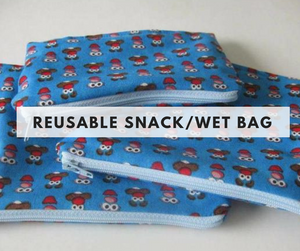 Reusable snack/wet bag class - August 12th - Weeknight