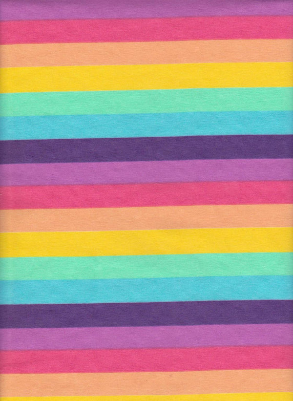 Cotton Spandex - Pastel Stripes